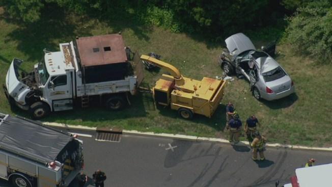 Elderly Man Killed After Car, Dump Truck Collide