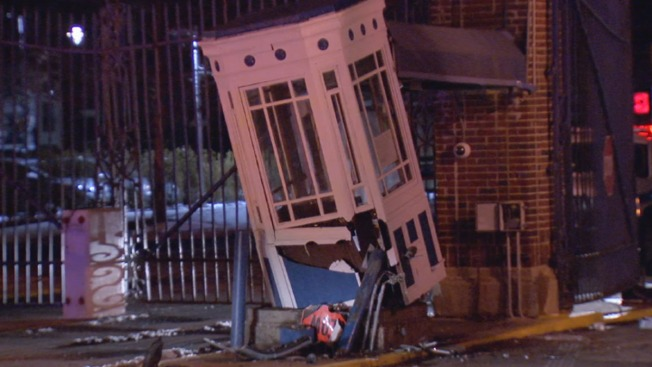 Guard Hurt After Car Crashes Into Navy Yard Security Booth