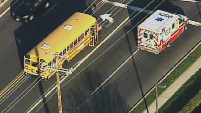 Driver Hurt After Car, School Bus Collide