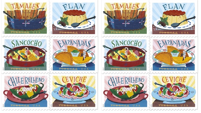 New 'Delicioso' Postage Stamps Dedicated to Latino Cuisine
