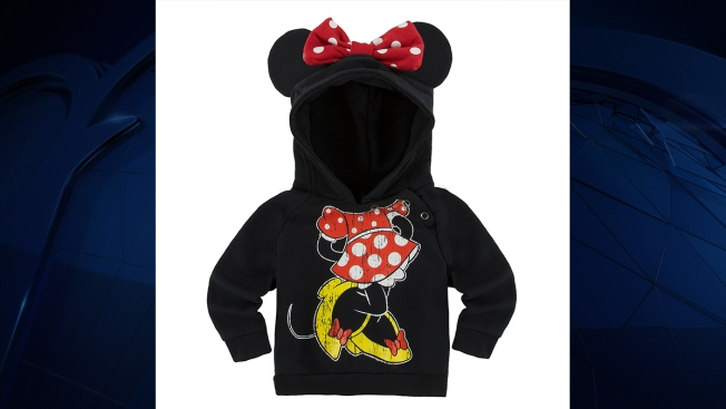 Mickey and Minnie infant hoodies recalled for choking hazard