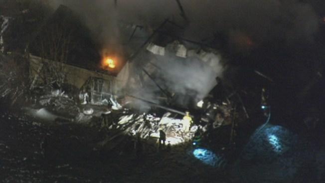Fire Destroys Barn in Montgomery County