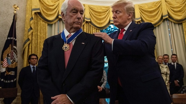 Trump Gives Presidential Medal of Freedom to Racing's Penske