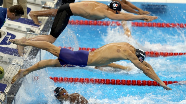 Cupping Marks Dot Michael Phelps, Other Team USA Athletes