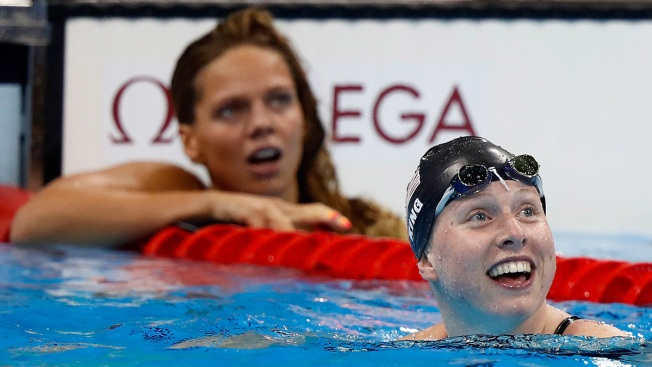 'Finger Wag Final' Goes to US Swimmer King
