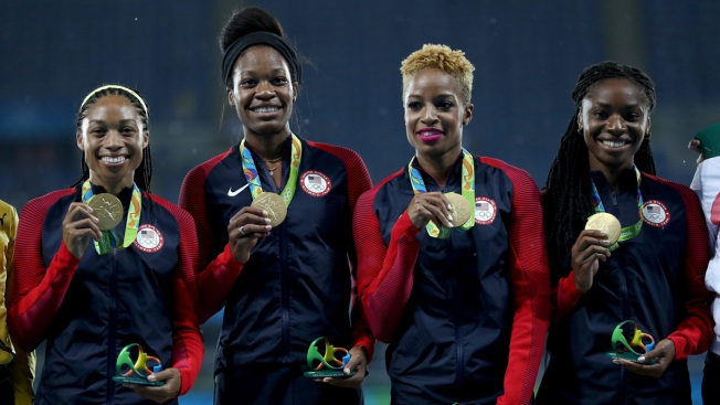 Rio Day 15: US Wins Gold Twice in Track Relays, and First Ever in 1,500-Meters