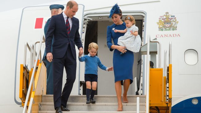 Prince William, Kate Arrive in Canada With 2 Young Children