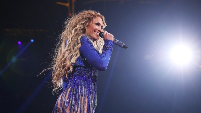 J. Lo Shouts-Out A-Rod, Covers Prince at Pre-Super Bowl Show
