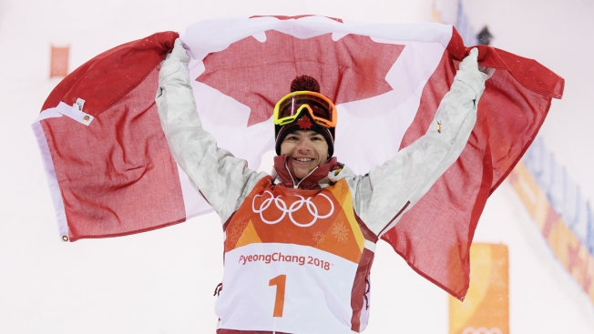 Canada's Kingsbury Storms to Gold in Men's Moguls