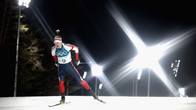 Norway's Boe for the Gold in Men's Biathlon 20km