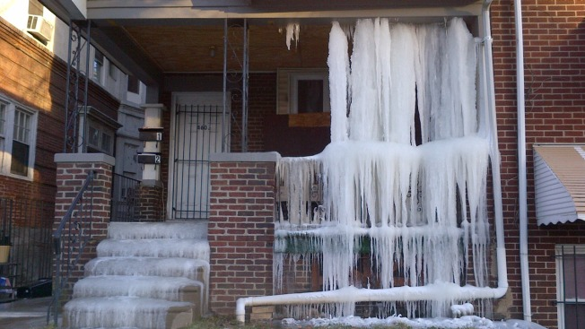 North Philly Home Covered in Ice