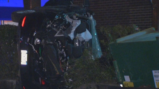 1 Dead, 1 Hurt After Vehicle, Dumpster Go Airborne