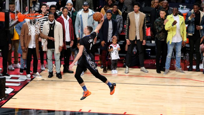 National Basketball Association slam dunk contest scores big on TV, social media