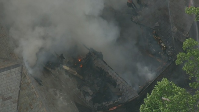 Spilled Gas Leads to Mansion Fire