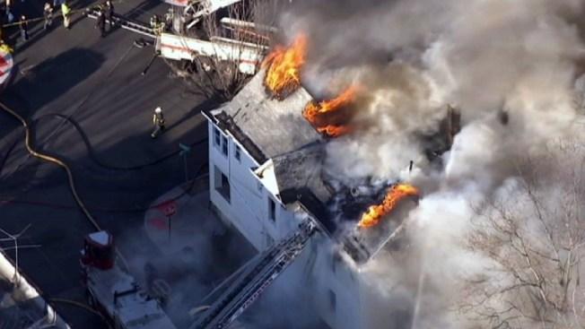 Firefighters Fall Through Floors Battling NJ Fire: Officials