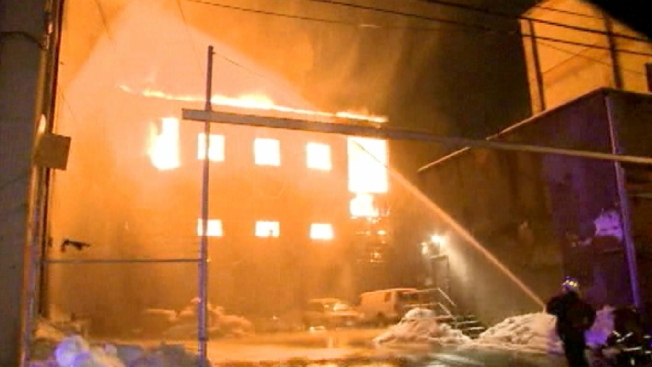 NJ Building Owner, Employee Arrested in Warehouse Blaze