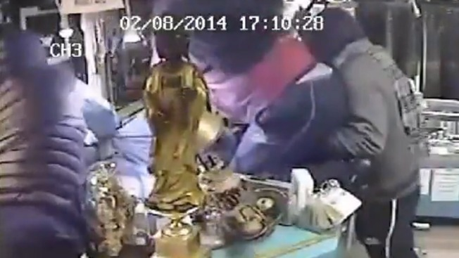 Caught on Cam: 4 Men Attack, Stab Pawn Shop Owner