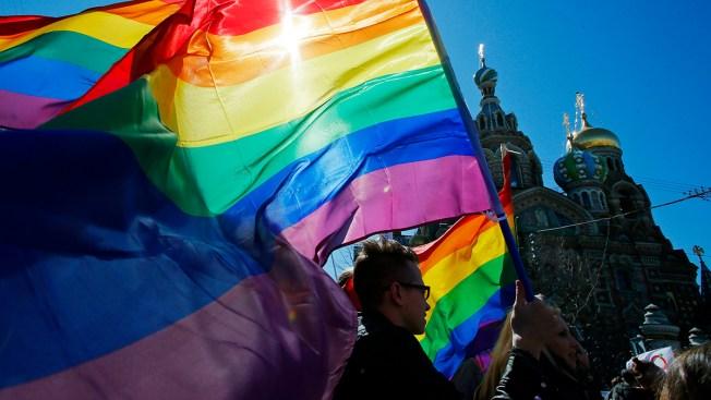 Demonstrators Commemorate Slain Russian LGBT Activist
