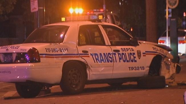 Drunk Driver Slams into SEPTA Cop Car