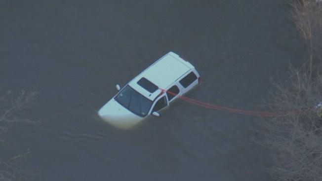 Man Crashes SUV Into Creek