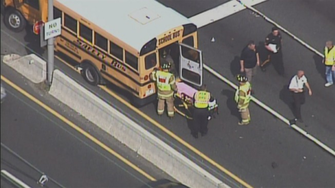 5 Hurt in School Bus Crash in Cinnaminson