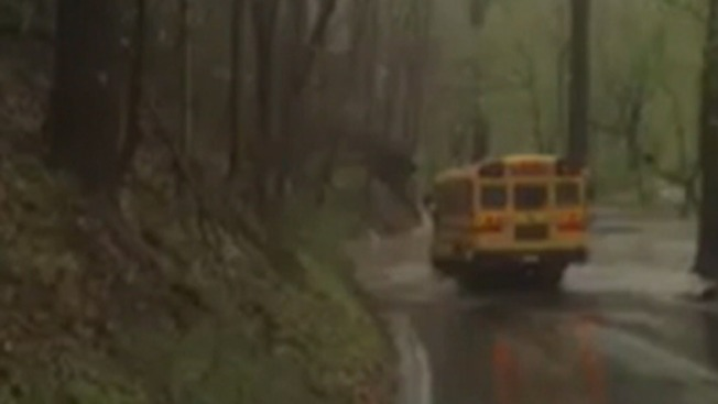 School Bus Driver Placed on Leave After Allegedly Driving Bus Through Flood Waters