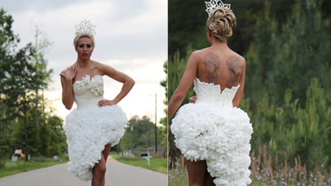 Toilet Paper Wedding Contest on a Roll
