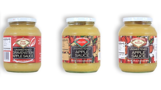 Trader Joe'sTrader Joe's recalled Unsweetened Apple Sauce products