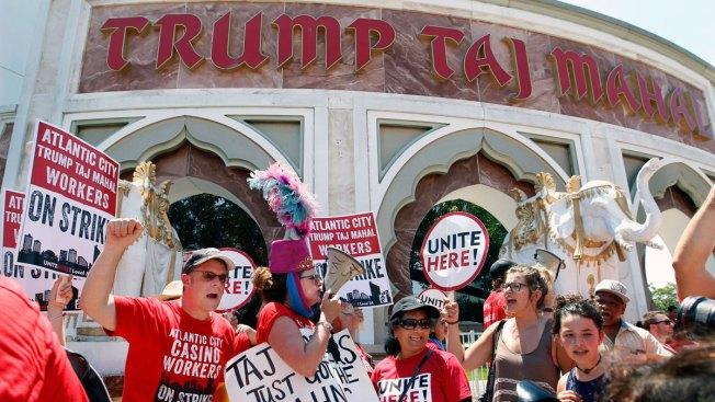 Revnue Plunge During Trump Taj Mahal Strike