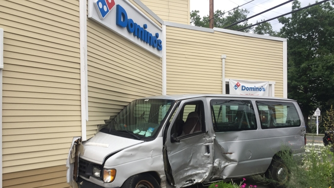 Van Crashes Into Domino's Pizza Restaurant