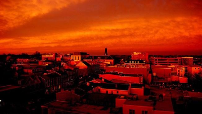 Fiery Sunset Across the Region