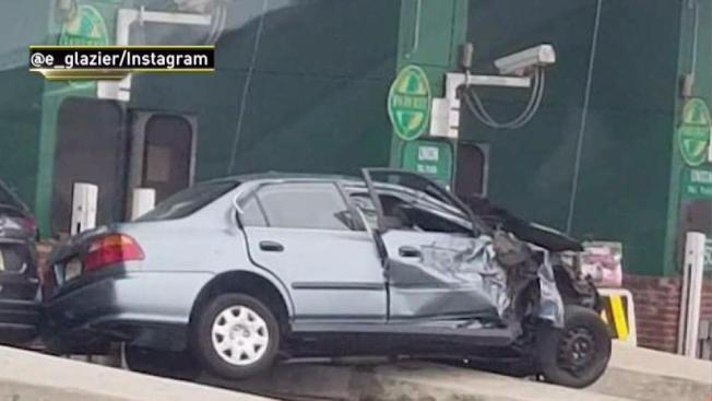 Woman killed in toll booth crash on garden state parkway nbc 10 philadelphia for Garden state parkway accident reports