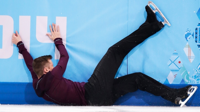 Troubles Strike Plushenko, Abbott at Men's Figure Skating