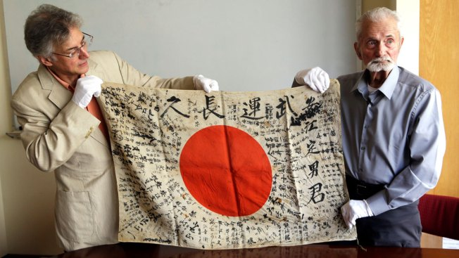 WWII Veteran, 93, Brings Back Flag Taken From Enemy Soldier