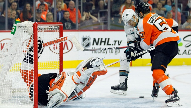 sharks 8 flyers 2 flyers embarrassed by sharks in home opener