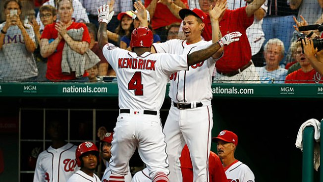 Valbuena, Calhoun homer to lift Angels past Nationals 3-2