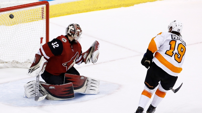 Patrick, Neuvirth Combine to Save Flyers From Ugly Loss