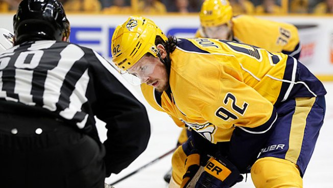 NHL Notes: Predators' Ryan Johansen (thigh) Out for Rest of Postseason