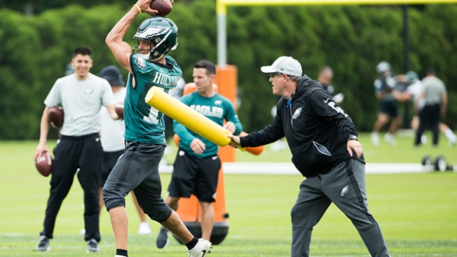 Eagles WRs Coach Gunter Brewer Making Impact With Energy, Crazy Sayings