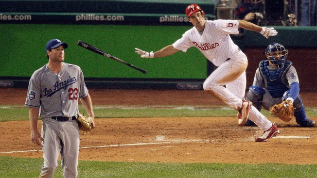 10 Years Ago Today: Cole Hamels, Chase Utley, Pat Burrell Lead Phillies Past Dodgers in NLCS Game 1