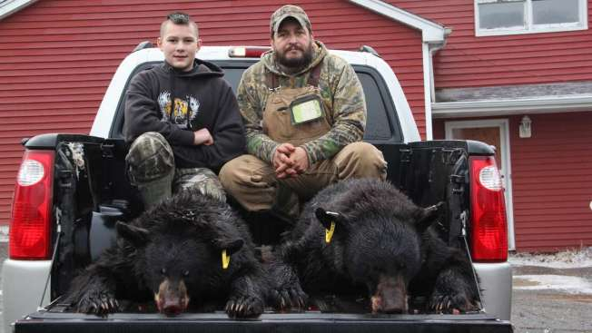 Father and Son Bag Bear and Cub to Kick Off Annual NJ Hunt