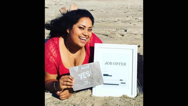 'She Said Yes!': California Woman's Job Announcement Photos Go Viral