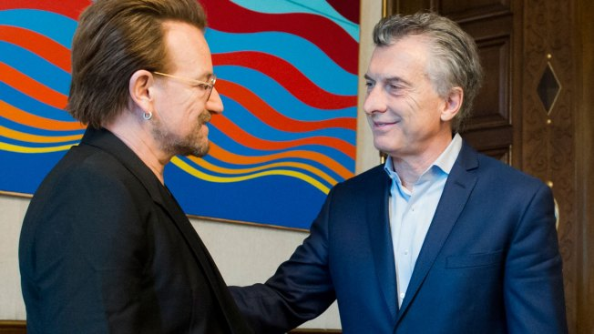 U2's Bono Asks Argentine President About Missing Activist
