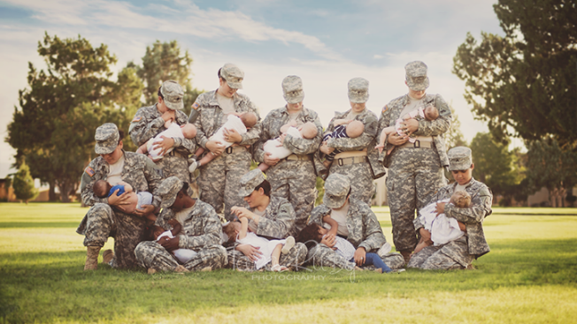 Photo of Breastfeeding Military Moms Goes Viral