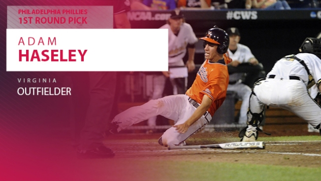 Phillies Select Outfielder Adam Haseley With 8th Overall Pick in MLB Draft