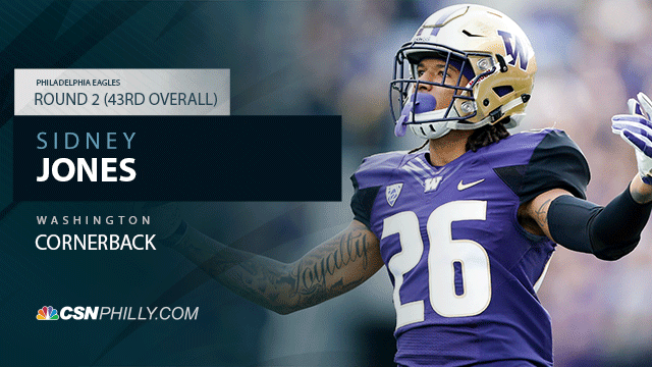 Eagles Draft CB Sidney Jones With 2nd-round Pick (43rd Overall)