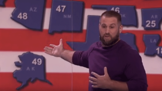 Watch: Eagles Long Snapper Jon Dorenbos Wows 'America's Got Talent' Judges With Map Trick