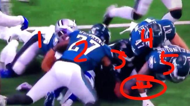Social Media Erupted With Anger After the Refs Ruled a Fumble in Favor of the Dallas Cowboys