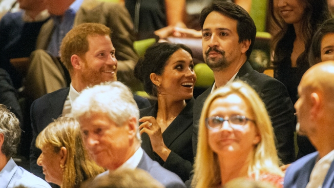 Prince Harry, Meghan Join Lin-Manuel Miranda at 'Hamilton'