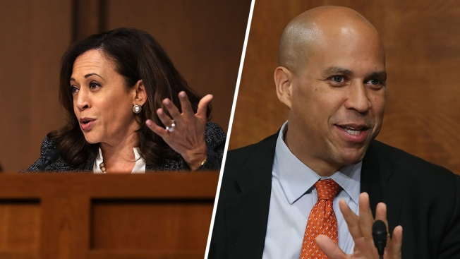 Sens. Kamala Harris And Cory Booker Join Senate Judiciary Committee